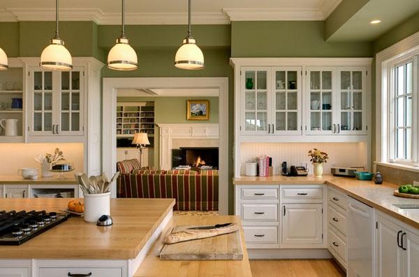 アクセントカラーとタイルのキッチン4