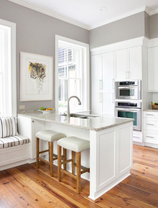 ホワイト&ウッドのキッチン3