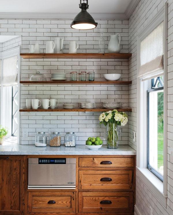 ホワイト&ウッドのキッチン5