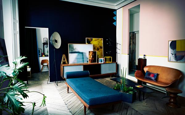 ブルーとグリーンのアロハハウス4