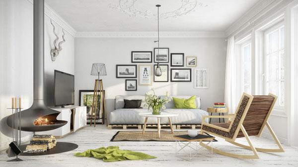 白い空間のフレームアートデコレーション4