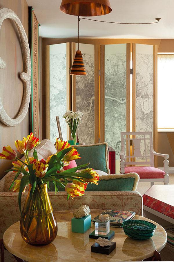 グリーンとオレンジのブリティッシュアパートメント2