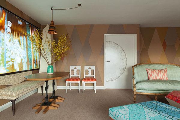 グリーンとオレンジのブリティッシュアパートメント3