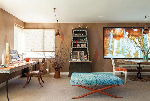 グリーンとオレンジのブリティッシュアパートメント4