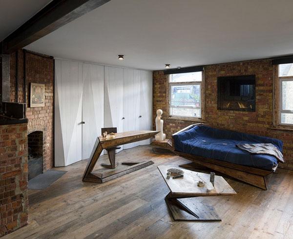 レンガの壁のアパートメント1