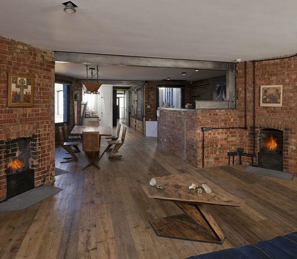 レンガの壁のアパートメント2