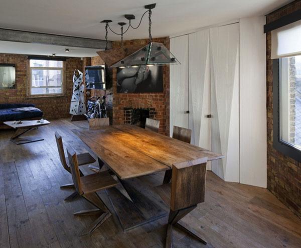 レンガの壁のアパートメント3