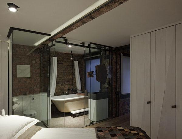 レンガの壁のアパートメント5