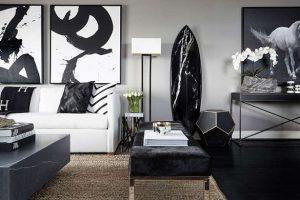 黒と白のラグジュアリースタイル1