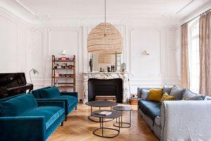 古い建物をリノベーションしたパリのアパルトマン